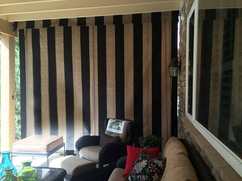 Canvas Porch Roller Curtains Privacy Shade Amp Protection